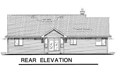 Rear Elevation Plan: 40-157