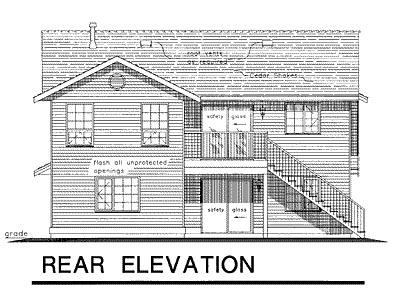 Rear Elevation Plan: 40-175