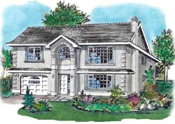 Mediterranean Style House Plans Plan: 40-183