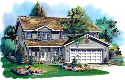 Traditional Style Home Design Plan: 40-186
