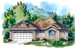 Southwest Style House Plans Plan: 40-202