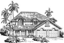 Southwest Style Floor Plans Plan: 40-217