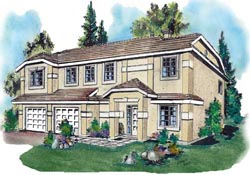 Mediterranean Style House Plans Plan: 40-219