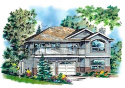 Traditional Style Home Design Plan: 40-230
