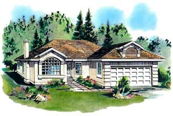 Southwest Style House Plans Plan: 40-259
