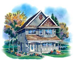 Country Style Home Design Plan: 40-262