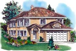 Southwest Style Home Design Plan: 40-263