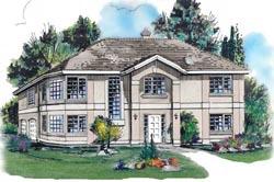 Southwest Style Home Design Plan: 40-264