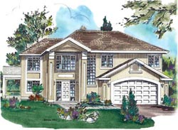 Mediterranean Style House Plans Plan: 40-275