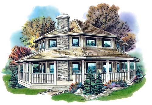 Country Style Floor Plans Plan: 40-285