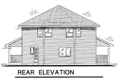 Rear Elevation Plan: 40-285