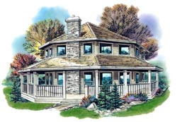 Country Style Home Design Plan: 40-285