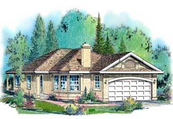 Southwest Style House Plans Plan: 40-287