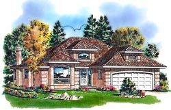Mediterranean Style Floor Plans Plan: 40-296