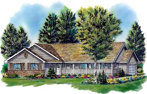 Ranch Style House Plans 40-300