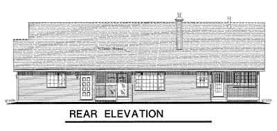 Rear Elevation Plan: 40-300