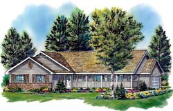 Ranch Style Home Design 40-300