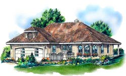 Southwest Style House Plans Plan: 40-309