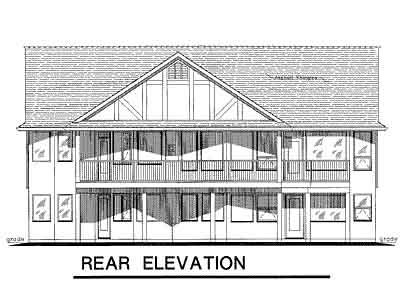 Rear Elevation Plan: 40-382