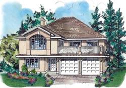 Southwest Style Home Design Plan: 40-387