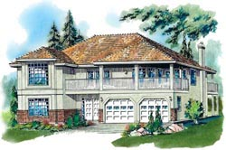 Southern Style Home Design Plan: 40-391