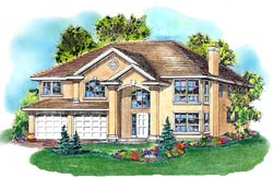 Traditional Style Home Design Plan: 40-395