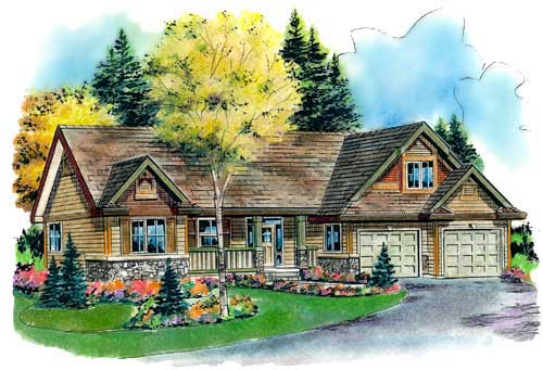 Traditional Style Home Design Plan: 40-410