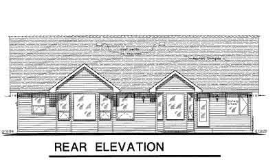 Rear Elevation Plan: 40-410