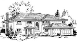 Traditional Style Home Design Plan: 40-422