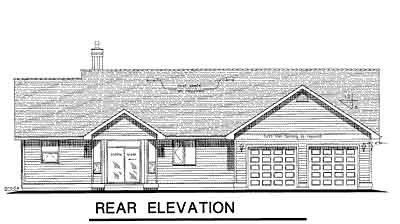 Rear Elevation Plan: 40-425