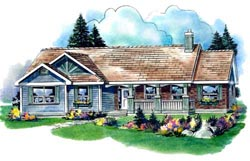 Country Style Floor Plans Plan: 40-425