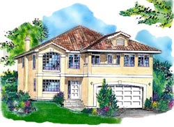 Southwest Style Floor Plans Plan: 40-436