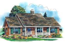 Country Style Floor Plans Plan: 40-459