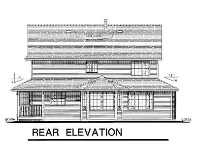 Rear Elevations Plan:40-574