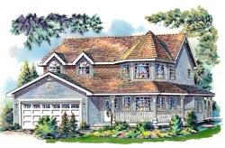 Victorian Style Home Design Plan: 40-574