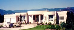 Santa-Fe Style Home Design Plan: 40-591