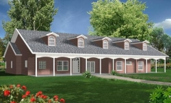 Country Style Floor Plans 41-1030