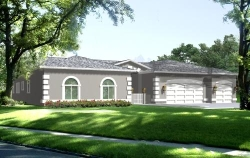 Mediterranean Style Home Design Plan: 41-1101