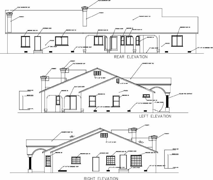 Rear Elevation Plan: 41-1119