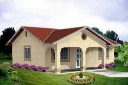 Southwest Style Home Design Plan: 41-116