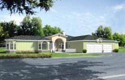 Mediterranean Style Home Design Plan: 41-1172