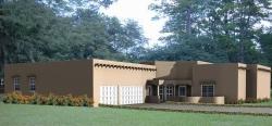 Santa-Fe Style Home Design Plan: 41-1179