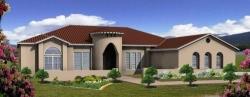Mediterranean Style Home Design Plan: 41-1181