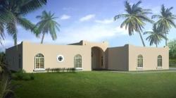Santa-Fe Style Home Design Plan: 41-1194