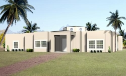 Santa-Fe Style Home Design Plan: 41-1216