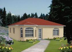 Sunbelt Style Home Design Plan: 41-122