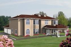 Mediterranean Style Home Design Plan: 41-1234