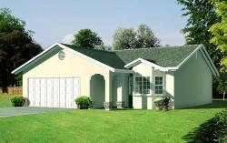 Southwest Style Home Design Plan: 41-125