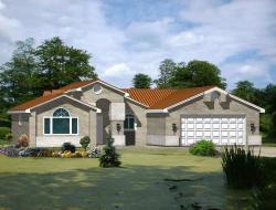 Southwest Style Floor Plans Plan: 41-206