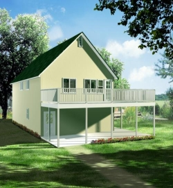 Traditional Style Home Design Plan: 41-280